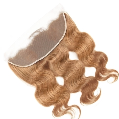#27 Blonde Body Wave Lace Frontal Closure 13x4 Ear to Ear Brazilian Human Hair