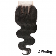 7A Cheap Unprocessed Malaysia Body Wave Lace Closure piece 4x4 Bleached Knots lace free part baby hair closure