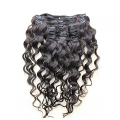 Clip In Huamn Hair Extensions Loose Wave Brazilian Virgin Hair Natural Color