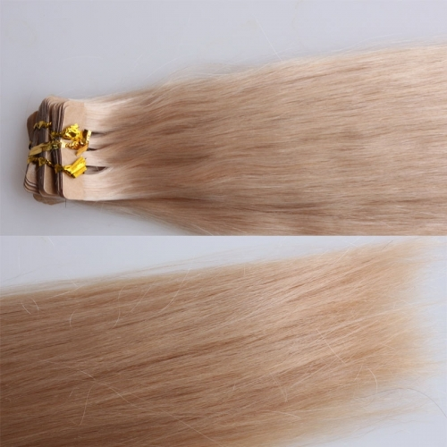 Tape Hair Piece Real Human Hair 60# Adhesive Double Sided Tape Hair Extensions Malaysian Hair Extend For White Women