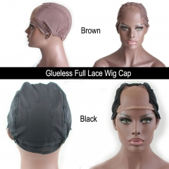 Glueless  Full Lace Wig Cap For Making Wigs Brown Or Black Color High Quality