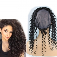 New Style 8A Grade Lace Frontal Closure 13X4 Back With Adjust Strap Cap Brazilian Virgin hair Water Wave 360 Lace Band 22x4