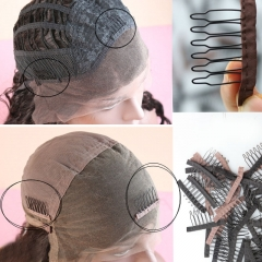 wholesale Wig Combs and Clips Wig Accessories for Wig Cap Black and Brown Color Wig Cap Comb Straps