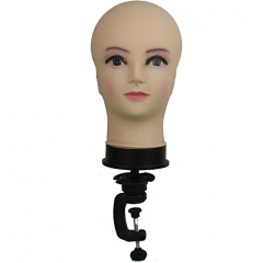 Cosmetology Bald Female Makeup Manikin Head for Wigs Making and Display Mannequin Head with C Table Clamp