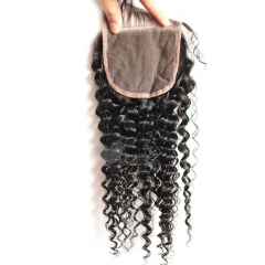 Brazilian Kinky Curly Lace Closure Kinky Curly Closure 4X4 Fashion Curly 8-22 Inch