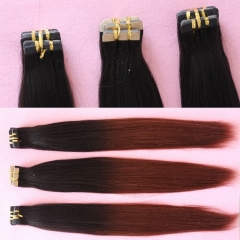 Wholesale Adhesive Ombre Tape Hair Weave Peruvian Tape In Hair Extension Tape Weft Hair Ombre F