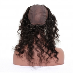360 Frontal Closure With 3 Bundles Loose Wave Brazilian Virgin Hair 360 Lace Band Frontal with Cap