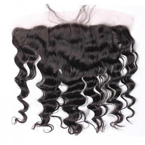 Brazilian Loose Wave 13x4 Ear to Ear Lace Frontal Closure Human Hair Pre Plucked
