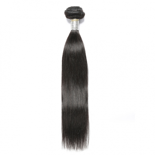 Natural Color Silk Straight Peruvian Remy Human Hair Weave 3 Bundles