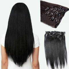 Remy Clip In Hair Extensions Straight 7pcs 120g Virgin Brazilian Hair Clip Hairpiece