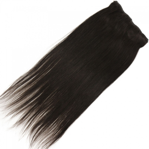 Flip Hair Extension 7A Unrocessed Malaysian Virgin Hair Human Hair Straight 1# Jet Black Color Flip In Hair 100g/pc