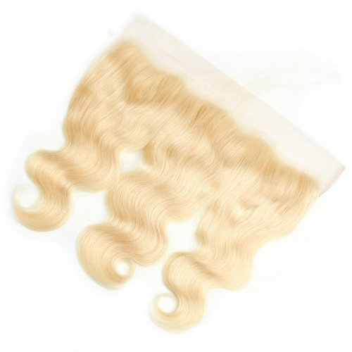613 Lace Frontal Closure Blond 13X4 Lace Frontal Body Wave 8A Grade 100% Human Hair Virign Peruvian Hair