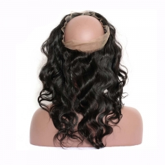 Body Wave 360 Lace Frontal Closure Brazilian Virgin Hair Lace Frontal Natural Hairline 22.5*4*2