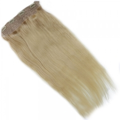 Top Grade Eurasian Virgin Hair 613# Blonde Color Flip Hair Extension 100g/pc 100 Human Hair Straight Flip Hair Extension