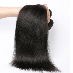 Natural Color Silk Sraight Malaysian Virgin Human Hair Extension 4 Bundles