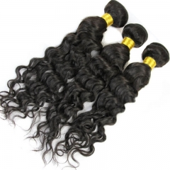 4x4 Lace Closure With 3 Bundles Brazalian Virgin Hair Water Wet Wave Human Hair