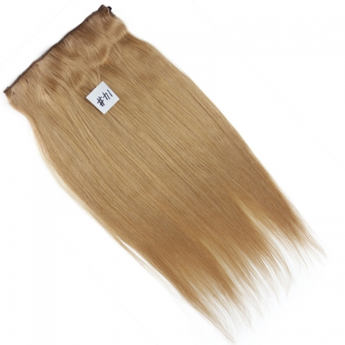 Flip in Straight Hair India Virgin Hair 14# Color Fish Line Hair Extension 100g/pc Flip Hair