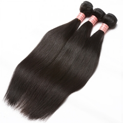 Indian Remy Human Hair Silky Straight Hair Weave Natural Color 3 Bundles