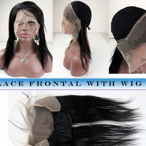 New Style 13x4 Straight Lace Frontal closure back With Stretch Cap For Making Wigs Virgin Brazilian Hair