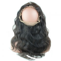 8A Brazilian Human Hair 22.5x4x2 360 lace band frontal with bundles Hair Extension Body Wave 360 lace Band virgin hair 3pcs/lot