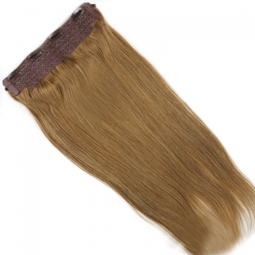 Cheap Human 100g Flip Hair India Virgin Hair Flip In Straight Hair 8# Color  Fish Line Hair Extension
