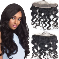 Braizilian Virgin Hair Lace Front Piece 13x2 Frontal Closure Ear to Ear Lace Frontal With Baby Hair Body Wave 120% density stock