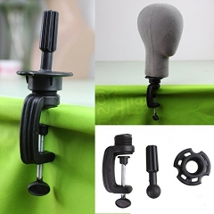 Black Wig Stand Clamp Manikin Head Wig Holder Clamp for Wig Head