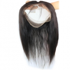 8A Brazilian Human Hair 22.5X4X2 360 Lace Band Frontal With Bundles Hair Extension Straight 360 Lace Band Virgin Hair 3Pcs/Lot