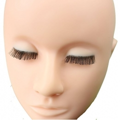 Dreambeauty Make Up Practice Soft Viny Mannequin Face with Embedded Eyelash
