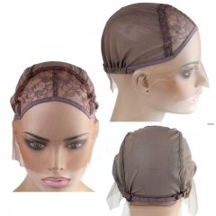 Swiss Lace For Wig Making  Top Grade Lace Front Wig Cap For Making Wigs Adjustable Strap With Lace At Nape In Stock