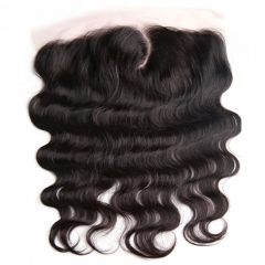 New Pre Parted C Part Lace Frontal Body wave 13x4 Ear to Ear Lace Frontal closure with baby hair