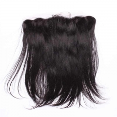 Silky Straight Brazilian Human Hair 13x4 Ear to Ear Lace Frontal Closure