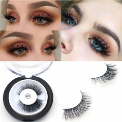 3D Mink Eyelashes 1 Pair 2 pcs More Natural Hand Make Lashes Eyelash Magnetic Eyelashed