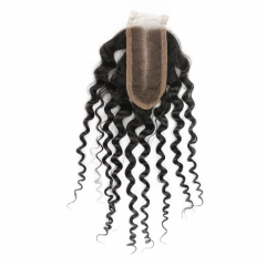 2X4 inch Lace Closure 100% Human Hair Virgin Brazilian Curly Lace Closure Density 120% Natural Color 30 days ship