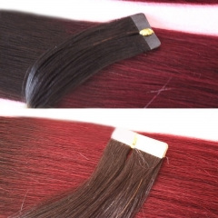1bT99J Ombre Virgin Hair Tape In Hair Extensions Two Tone Brazilian Hair Weave Best Quality Top Grade Hair Weave