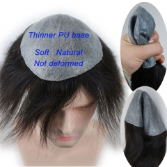 Toupee for Men Whole Thinner PU Base Not Deformed Cheap Men Hairpiece