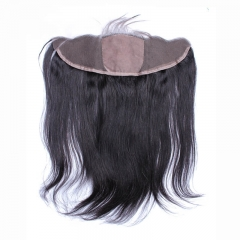 13*4 Ear To Ear Silk Base Frontal Closure With Hidden Knots Straight Virgin Peruvian Full lace Frontal Closure With Baby Hair