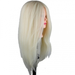 Mannequin Head with Hair Salon Head Hair Cutting Mannikin 22inch Human Hair and Synthetic Hair Mixed