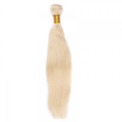 613# Blonde Human Virgin Hair Straight Bundle 28 inch in stock 1pcs