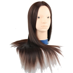 Cosmetology Practice Head with Hair for Hair styling and Cutting 22inch Synthetic Hair