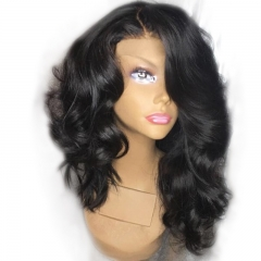300% density Lace Front Wig Thick Enough Real Human Hair Glue less Celebrity Full Wigs for Black Women