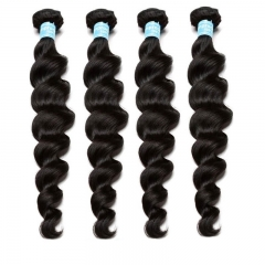 Natural Color Peruvian Remy Human Hair Loose Wave Hair Weave 3pcs Bundles