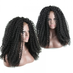 QingDao Kinky Curly Synthetic Wigs For Women Long wig Lace Front Wig