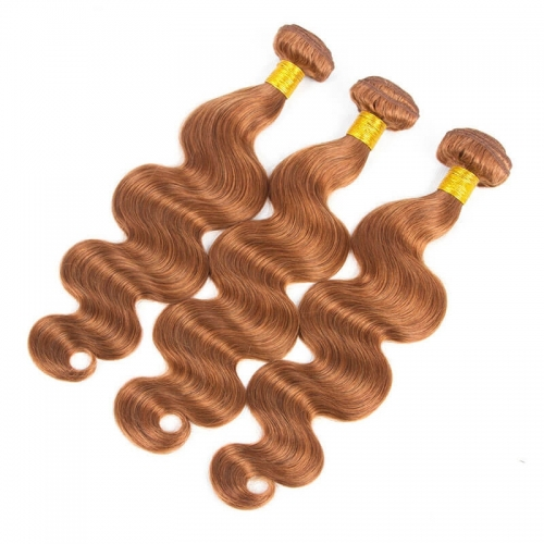 30 Hair Color Weave Medium Brown Brazilian Remy Hair Body Wave Hair Weave 3 Buddles