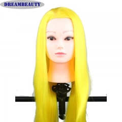QingDao Cosemetology Training Pratcice Cutting Styling Mannequin Head with Synthetic Hair Straight
