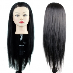 High Quality Synthetic Fiber Mannequin Training Head Black Color 22inch