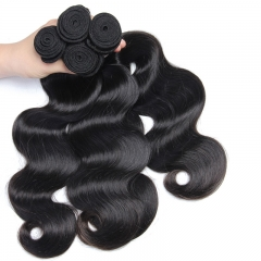 Natural Color Peruvian Remy Human Hair Body Wave Hair Weave 3pcs Bundles