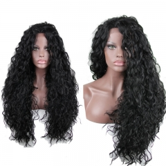 Synthetic Wigs16- 24inch Black Color Water Wave Synthetic Hair wigs