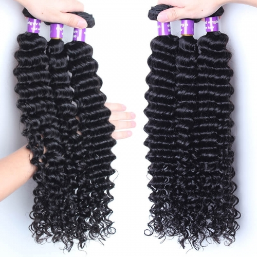 Deep Wave Brazilian Hair 1 Pcs Brazilian Hair Weave Bundles 8A Honey Beauty Hair Products Curly Human Hair Extensions
