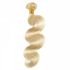 Platinum Blonde Remy Hair #613 Color Body Wave Brazilian Remy Human Hair Weave 3pcs Bundle